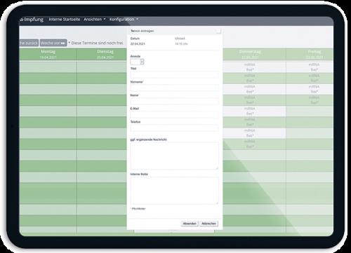Bild Praxis kann selbst Termine vergeben - OTS - Das smarte Online-Terminvergabe-System