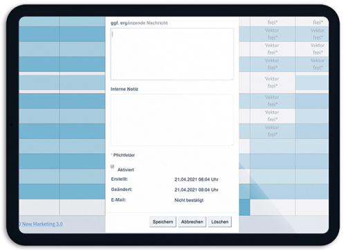 Bild Buchungen einfach prüfen, bearbeiten, löschen - OTS - Das smarte Online-Terminvergabe-System