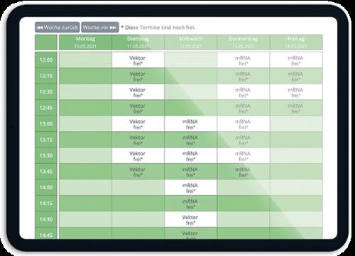 Bild Der passende Termin für den passenden Impfstoff - OTS - Das smarte Online-Terminvergabe-System