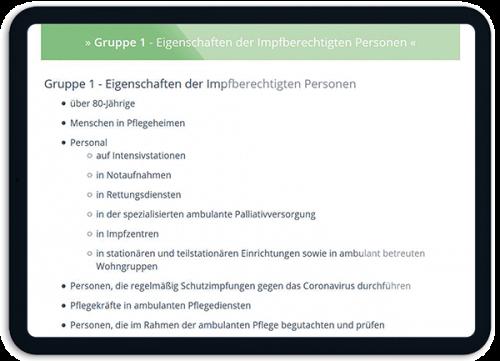Bild Transparente Informationen zur Impfung - OTS - Das smarte Online-Terminvergabe-System