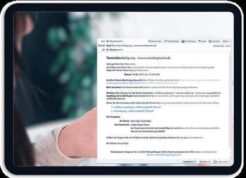 Bild Patienten buchen ihren Termin selbst - OTS - Das smarte Online-Terminvergabe-System